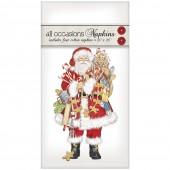 Gingerbread Santa Casual Napkins