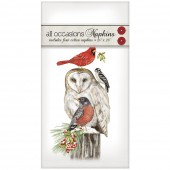 Stacked Winter Birds Casual Napkins