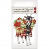 Poinsettia Goat Casual Napkins