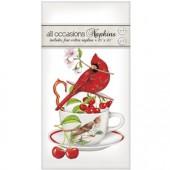 Cardinal Cherry Teacup Casual Napkins