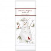 Snowman Wheelbarrow Linen Napkins