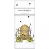 Lavender Beehive Linen Napkins