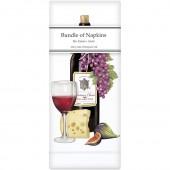 Red Wine Bottle Linen Napkins