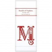 Monograms M Red Linen Napkins