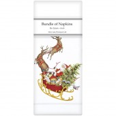 Santas Sleigh Linen Napkins