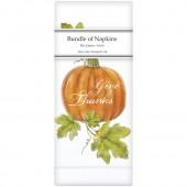 Botanical Pumpkin Linen Napkins