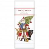 Woodland Santa Linen Napkins