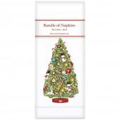 Vintage Christmas Tree Linen Napkins