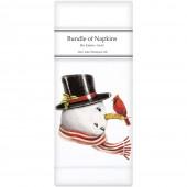 Retro Snowman Linen Napkins