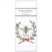 Bee Merry Linen Napkins