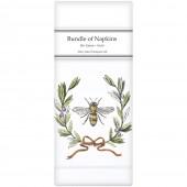 Bee Olive Wreath Linen Napkins