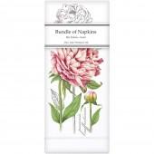 Botanical Peony Linen Napkins