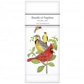 Stacked Bird Branch Linen Napkins