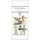 Stacked Shorebirds Linen Napkins