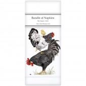 Stacked Chickens Linen Napkins