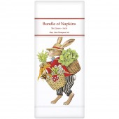 Rabbit With Vegetables Linen Napkins