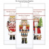 Nutcracker Trio Assorted Linen Napkins