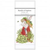 Rabbit Veggie Hat Linen Napkins