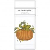 Vintage Pumpkin Linen Napkins