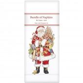 Gingerbread Santa Linen Napkins
