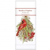 Cardinal Pine Swag Linen Napkins