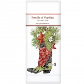 Pine Boot Linen Napkins
