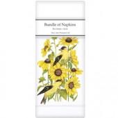 Sunflower Finch Linen Napkins