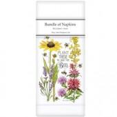 Bee Flowers Linen Napkins