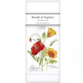 Botanical Poppy Linen Napkins