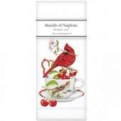 Cardinal Cherry Teacup Linen Napkins