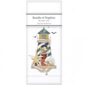 Bird Lighthouse Linen Napkins