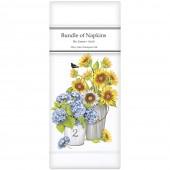 Flowers From Truck Linen Napkins