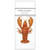 Single Lobster Linen Napkins
