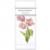 Pink Tulip Bunch Linen Napkins