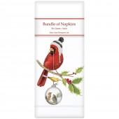 Cardinal With Ornament Linen Napkins