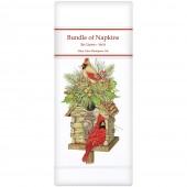 Log Cabin Birdhouse Linen Napkins