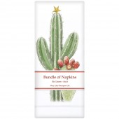 Cactus With Lights Linen Napkins