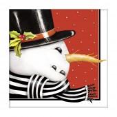 Snowman Retro Paper Napkins