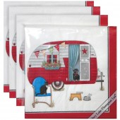 Red Camper Paper Napkins
