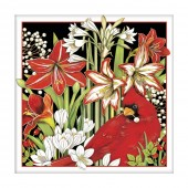 Winter Birds Flowers Paper Napkins