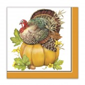 Turkey One Pumpkin Paper Napkins