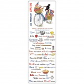 Blue Bike Flags Apple Pie Recipe Towel