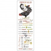 Stacked Chickens Salad Recipe Towel