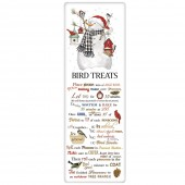 Birdhouse Snowman Bird Treat Recipe Towel