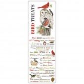 Stacked Winter Birds Bird Treats Recipe Towel
