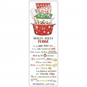 Holiday Vintage Bowls Fudge Recipe Towel