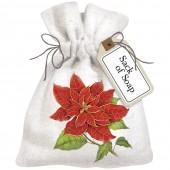 Poinsettia Sack of Soap
