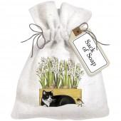 Paperwhite Cat Sack Of Soap