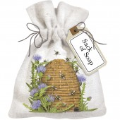 Beehive With Thistle Sack Of Soap