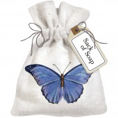 Blue Butterfly Sack Of Soap